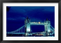 Framed Tower Bridge Spanning the River Thames in London, England
