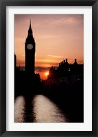 Framed Big Ben Clock Tower, London, England