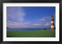 Framed Lighthouse of Plymouth Hoe, Plymouth, England
