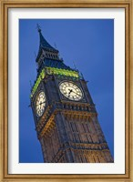 Framed UK, London, Clock Tower, Big Ben at dusk