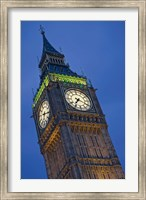 Framed UK, London, Clock Tower, Big Ben at dusk