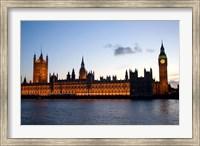 Framed Big Ben, Houses of Parliament, London, England