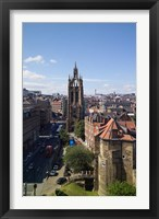 Framed Black Gate and St Nicholas Cathedral, Newcastle on Tyne, Tyne and Wear, England