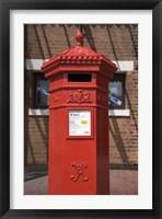 Framed GR Post Box, Gloucester, Gloucestershire, England