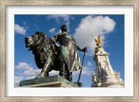 Framed Statue Detail of Queen Victoria Memorial, Buckingham Palace, London, England