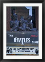 Framed Beatles Shop, Mathew Street, Liverpool, England