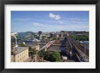 Framed View Over the Tyne Bridges, Newcastle on Tyne, Tyne and Wear, England