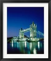 Framed Tower Bridge, London, England