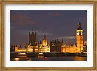 Framed Big Ben and the Houses of Parliament, London, England