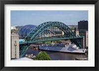 Framed Tyne Bridge and The Sage, Newcastle on Tyne, Tyne and Wear, England