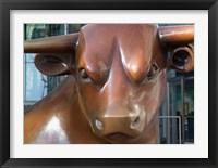 Framed Statue of a Bull, Bull Ring, Birmingham, England