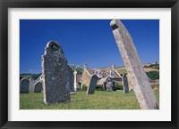Framed Leaning Gravestones in Cemetery, Abbotsbury, Dorset, England