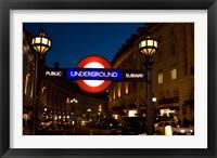 Framed England, London Subway, Tube Entrance