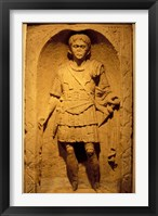 Framed Tombstone of Roman Centurion, Colchester Museum, Essex, England
