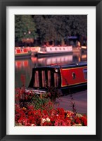 Framed Basin Linking Canal to River Avon, Stratford-on-Avon, England