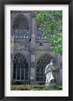 Framed Statue of Richard Hooker, Exeter, Devon, England