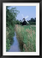 Framed Wickham Fen Wind Pump, Cambridgeshire, England