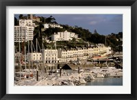 Framed View of Marina and Town from Torquay Pier, Torquay, Devon, England