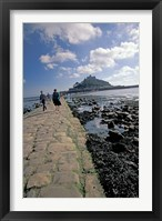 Framed St Michael's Mount, Cornwall, England