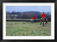 Framed Quorn Fox Hunt, Leicestershire, England
