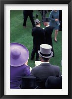 Framed Formally dressed race patrons, Royal Ascot, England