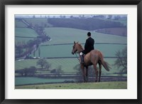 Framed Man on horse, Leicestershire, England
