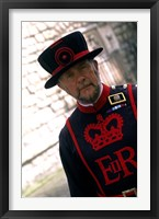 Framed Beefeater at the Tower of London, London, England