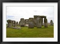 Framed Stonehenge Monument, England