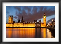 Framed Houses of Parliament, Big Ben, London, England