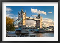 Framed Tower Bridge from Tower of London, England