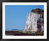 Framed England, County Kent, White Cliffs of Dover, Ship
