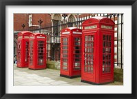Framed Phone boxes, Royal Courts of Justice, London, England