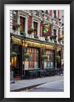 Framed Sherlock Holmes Pub, Trafalgar, London, England