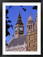 Framed Big Ben and Houses of Parliament, London, England