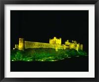 Framed Bamburgh Castle, Northumberland, England