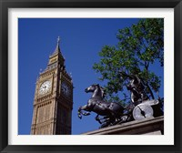 Framed Big Ben and Statue of Boadicea, London, England