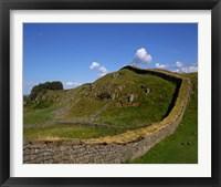 Framed Hadrian's Wall, Northumberland, England