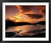 Framed Derwent Water in Lake District National Park, Cumbria, England