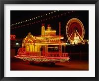 Framed Show Boat and Blackpool Illuminations, Lancashire, England