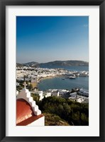 Framed Inner harbor of Mykonos, Chora, Mykonos, Greece
