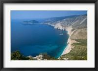 Framed Coastline View, Assos, Kefalonia, Ionian Islands, Greece