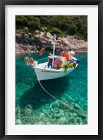 Framed Greece, Ionian Islands, Zakynthos, Fishing Boat