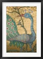 Framed Peacock Mosaic, Eleftherotria Monastery, Macherado, Zakynthos, Ionian Islands, Greece