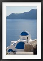 Framed Blue church dome, Oia, Santorini, Greece