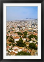 Framed Crowded City of Athens, Greece