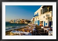 Framed Little Venice, Mykonos, Greece