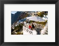 Framed Mountain Cliffs of Fira, Santorini, Greece