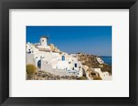 Framed Mountain Cliffs Oia, Santorini, Greece