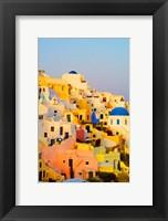 Framed Scenic Oia, Santorini, Greece