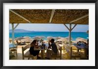 Framed St Stefanos Beach, Mykonos, Greece